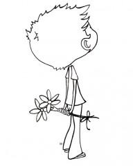 Dessin_coloriage_garcon_offrant_fleurs.jpg